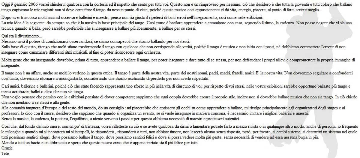 Lettera Tete Rusconi