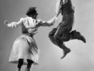 2 ballerini famosi di lindy-hop