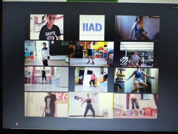 Una lezione di danza su zoom con 12 allievi